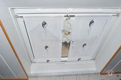 Heller statischer Vorhang für Dachschrägen mit Blumenmuster - http://www.gardinen-deko.de/heller-statischer-vorhang-fuer-dachschraegen-mit-blumenmuster/