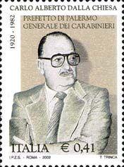 20th Anniversay of the death of General Carlo Alberto dalla Chiesa   2002 stamp