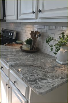 Best Of Gray Granite with White Cabinets