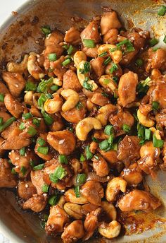 You will love this Cashew Chicken recipe. Very easy to put together just need to try out and you can make lettuce wraps,rolls,sandwich out of this cashew chicken.Enjoy this along with rice or noodles of your choice. chicken recipes So good Cashew Chicken! Chicken Cashew Stir Fry, Skillet Chicken, Easy Cashew Chicken Recipe, Chicken With Cashews, Slow Cooker Cashew Chicken, Almond Chicken, Easy Chinese Recipes, Chinese Food Recipes Chicken, Chicken
