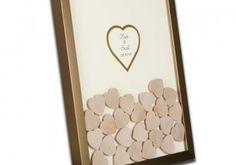 Drop in Hearts Wedding Guest Book