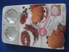 Wilton 6 Cavity Mini Seashell Shell Clam Cake Pan Shrinkwrapped