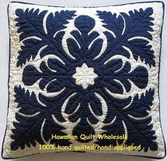 """18"""" Hawaiian Quilt Handmade Applique Pillow Covers"""