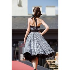 Karované retro šaty Salons, High Low, Strapless Dress, Backless, Retro, Dresses, Fashion, Strapless Gown, Lounges