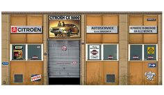 Citroen Autoservice Nederland Geert Brouwer Diorama | Dioramas  | hobbyDB
