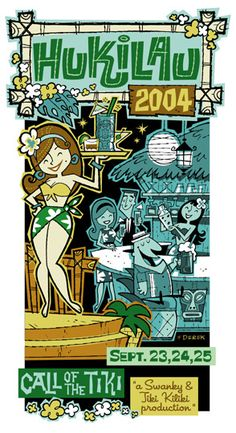 Derek Art - Illustration, Serigraphs, Paintings, and Tiki Mugs - Illustration