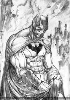 ArtStation - BATMAN sketch pencils , Paulo Barrios
