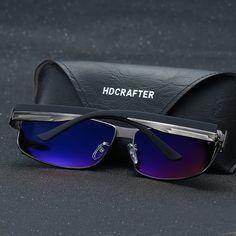 67f6f9c937 Hdcrafter moda condução óculos de sol para homens polarizada óculos de sol  uv400 proteção óculos de alta qualidade óculos de design da marca