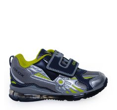 GEOX Grey Navy Sneakers with Lights for Boys. Παιδικά γκρι μπλε sneakers με bfe35025017