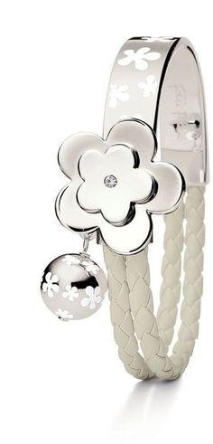 Folli Follie Bonding Bracelet in White