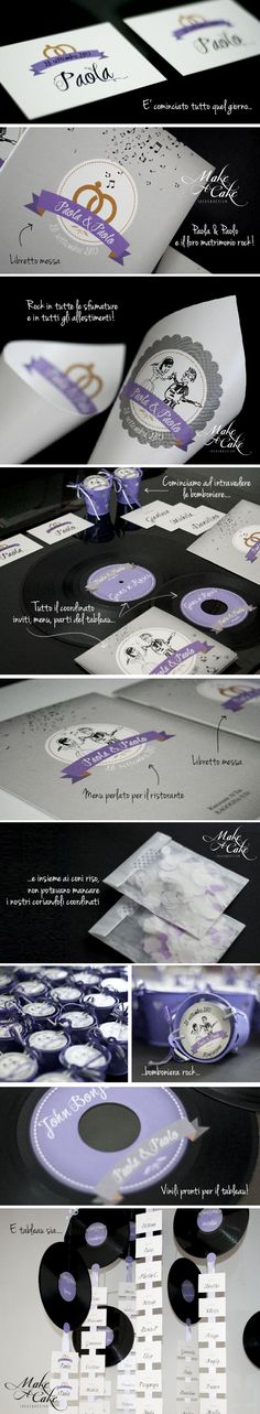rock wedding ideas inspiration favor stationery violet silver you can find it at www.makeacake.it