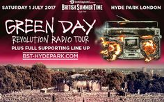 Punk Rockers Green Day have been confirmed as headliners at BST Hyde Park in London on 1st July 2017