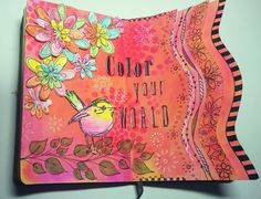 Color your world - art journal pages