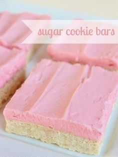 Sugar Cookie Bars #sugarcookiebarrecipes