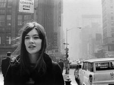 Francoise Hardy in NYC, 1965.