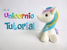Unicornio Tutorial Fácil - YouTube Polymer Clay Crafts, Polymer Clay Creations, Clay Art For Kids, Cold Porcelain Tutorial, Jumping Clay, Fondant Figures, Clay Animals, Salt Dough, Clay Tutorials