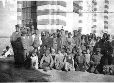 Genocide survivors living in Armenian church buildings in Aintab in early 1919.