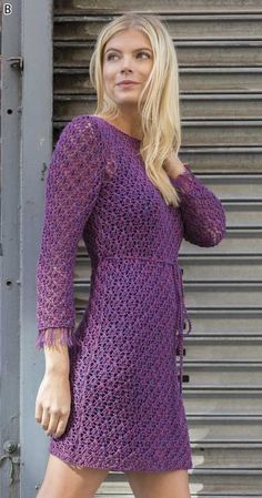 Knitting pattern for Clematis lace dress