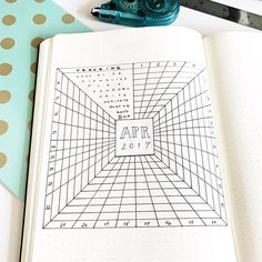 Here is another idea for a monthly #BulletJournalTracker. Could adapt this to also be a gratitude log or mood log or another fun thing!  My sweetie asked if I was making a wormhole in my #BulletJournal when he saw the beginning stages of this hehe  #BulletJournalCollection #habittracker