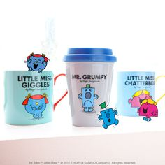 Created in 1971 by British Author Roger Hargreaves, the Mr. Men and Little Miss characters identify with a multigenerational audience through self expression, colour, simplicity and humor. Check out this fun collection! Little Miss Characters, Mr Men Little Miss, Sanrio Characters, Tea Time, British, Decor Ideas, Author, Colour, Mugs