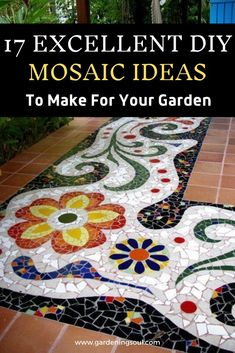 If you are thinking about adding a new design to your garden then mosaic decor is one unique and wonderful idea. Mosaic Tile Designs, Mosaic Tile Art, Mosaic Vase, Mosaic Diy, Mosaic Ideas, Mosaic Crafts, Mosaic Garden Art, Mosaic Projects, Backyard Projects
