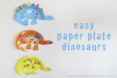 a little delightful – {craft} paper plate dinosaurs