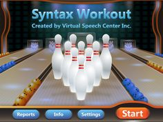 Syntax Workout app was created by a certified speech and language pathologist for preschool and elementary school-age children who struggle with English grammar.