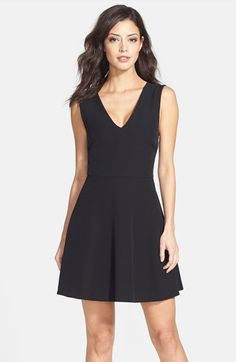 FELICITY+&+COCO+Back+Cutout+Fit+&+Flare+Dress+(Regular+&+Petite)+(Nordstrom+Exclusive)+available+at+#Nordstrom