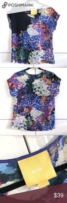 Like New Anthropologie Maeve Boxy Silk Floral Top Like New Anthropologie Maeve Boxy Silk Floral Top.  100% silk.  Size 2.  Perfect condition; flawless. Anthropologie Tops
