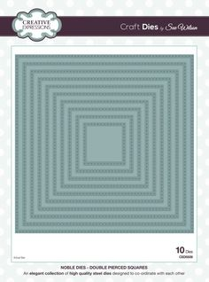 The Noble Collection - Double Pierced Squares