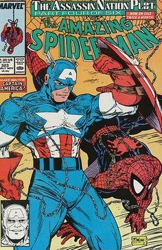 Todd McFarlane Spiderman & Cap Cover