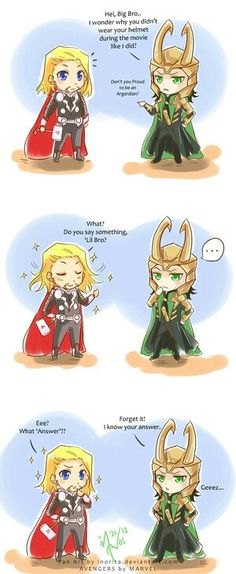 Chibi Thor & Loki= SO CUTE