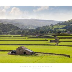 'Gunnerside, Yorkshire Dales' Poster by Andrew Roland Cute Baby Boy Images, Yorkshire Dales, My Heritage, Barns, Countryside, Britain, United Kingdom, Roots, Scotland