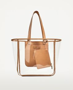 Discover the new ZARA collection online. Tote Bags, My Bags, Road Trip With Dog, Zara Outfit, Transparent Bag, Art Bag, Clear Bags, Summer Bags, Bag Storage