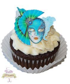 Masquerade 12 Edible Decorations  Masquerade Food by TastyPrints, $10.99