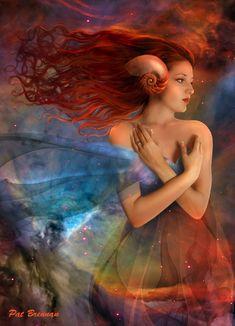 """Aries"" by Pat Brennan (Digital Art / Photomanipulation / Fantasy)."