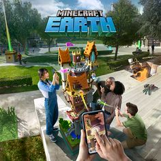 Learn more about the new Minecraft augmented reality game called Minecraft Earth. Bring your creations to life with this free-to-play game for iOS and Android. The New Minecraft, Minecraft Earth, Mine Minecraft, Augmented Reality Games, A Whole New World, Business Travel, Free Games, Traveling By Yourself, Play