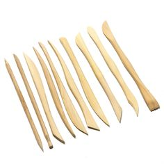 Offerta di oggi - Asian Hobby Crafts Wooden Carving Modelling Tools High Quality Double Heads Pottery Clay Ceramic Polymer Paper Mache Sculpture Pieces) a Eur. Paper Mache Sculpture, Clay Tools, Ceramic Clay, Clay Projects, Cool Items, Tool Set, Hobbies And Crafts, Sculpting, Hair Accessories