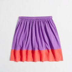 Factory girls' colorblock skirt - Skirts - FactoryGirls's FactoryGirls_Shop_By_Category - J.Crew Factory