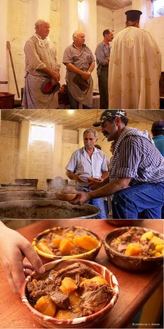 Patatato is the climax of culinary preparations that always start a few weeks in advance. It is a traditional recipe of Amorgos, cooked when the local people Old Recipes, Food Preparation, Food For Thought, Chefs, Greece, Island, Meals, Cooking, Colors