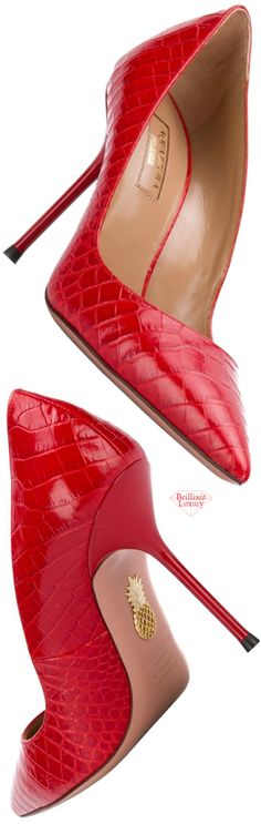 Brilliant Luxury♦Aquazzura Purist Pumps Featuring Embossed Crocodile Effect Brilliant Luxury♦Shoes in new PANTONE Fashion Color Summer Fig♦Start your pin adventure NOW! Stiletto Pumps, High Heel Pumps, Pumps Heels, Velvet Ankle Boots, White Wedding Shoes, Women's Feet, Red Shoes, Women's Shoes, Sexy Heels
