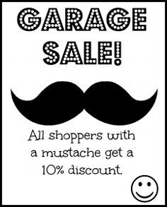 24 best yard sale signs and printables images for sale sign