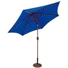 Round Crank Patio Umbrella   Blue 9u0027, Royal Blue