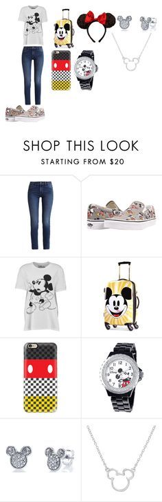 """""""I Love Mickey Mouse"""" by breezybrebre on Polyvore featuring beauty, Calvin Klein, Vans, Boohoo, Disney and Casetify"""