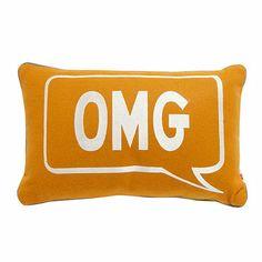 Ben de Lisi Home Designer orange embroidered 'OMG/ GR8' cushion- at Debenhams.com