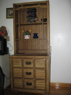 Wooden hutch for sale with 3 drawers bottom dresser 30 quot high the