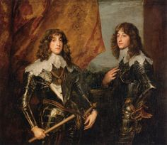 """""""The Princes Palatine, Charles Louis I and Prince Rupert"""" (1637) by Sir Anthony van Dyck"""