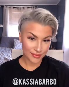 Short Shaved Hairstyles, Undercut Hairstyles Women, Short Hair Undercut, Haircuts For Fine Hair, Short Hairstyles For Women, Hairstyle Short, Really Short Hairstyles, Short Hair Cuts For Women Over 40, Very Short Pixie Cuts