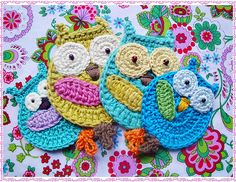 crochet owls - would be cute dishrags :)