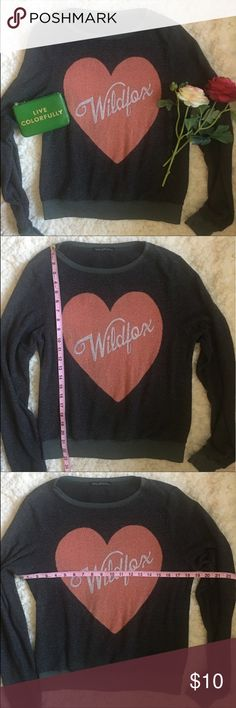 ❤WILDFOX sweater❤ ❤Good used condition WILDFOX Sweater in charcoal grey XS❤shows piling for style❤ Sweaters